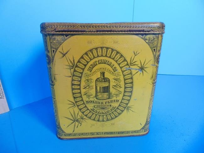 Slippery Elm Lozenges Tin Litho Container - 4