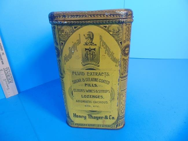 Slippery Elm Lozenges Tin Litho Container - 5