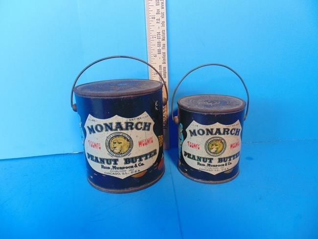 Monarch Peanut Butter Tins