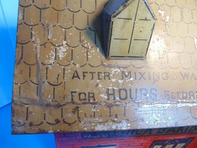 America Baking Powder Country Store Tin Litho Bin - 9