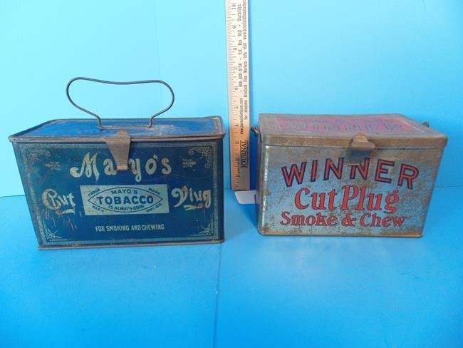 Winner Cut Plug  & Mayo's Tobacco Tins