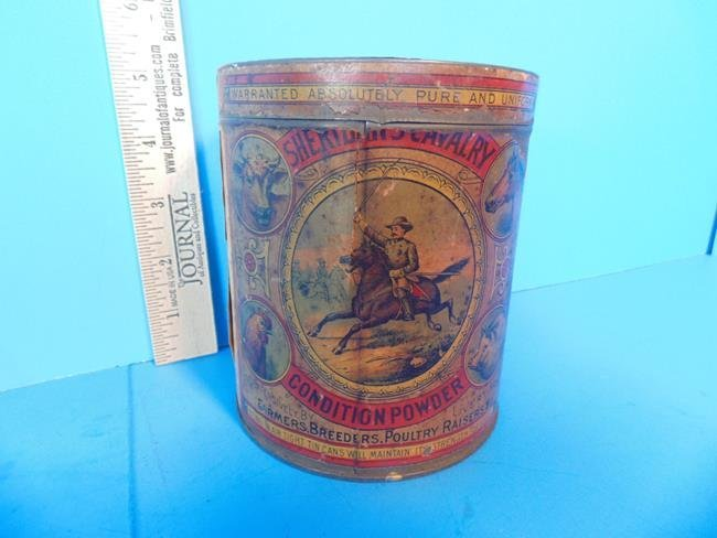 Sheridan Cavalry Condition Powder Tin Can