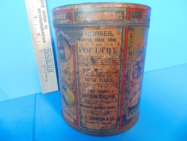 Sheridan Cavalry Condition Powder Tin Can - 2