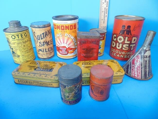 Kitchen Spice & Cleaning Tins