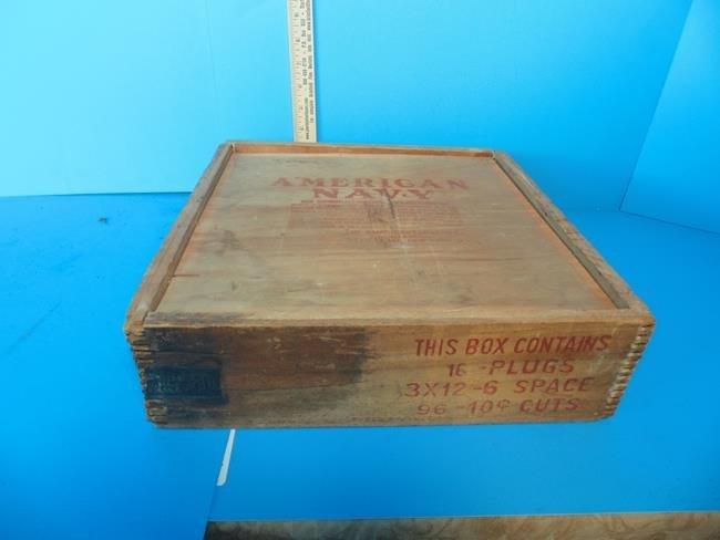 American  Navy  Tobacco Box & Contents