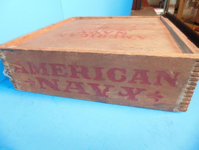 American  Navy  Tobacco Box & Contents - 2
