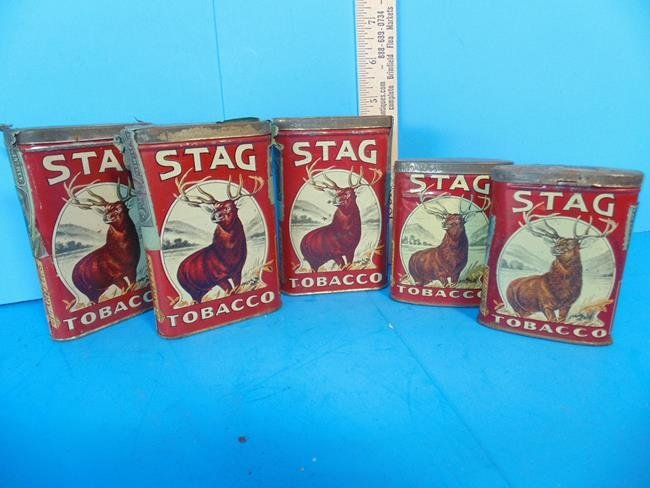 Stag Tobacco Tins