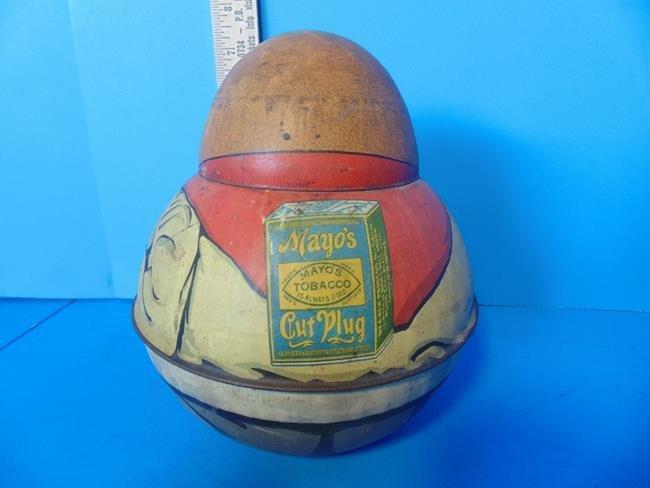 Mayo's Cut Plug Tobacco Roly Poly  Cowboy Tin - 2