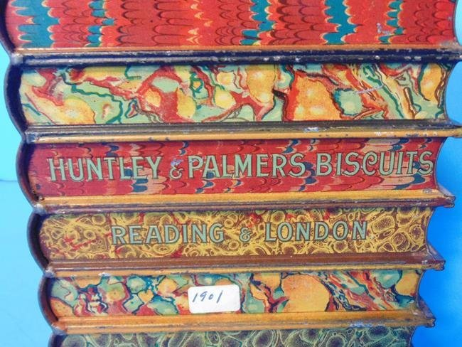 Huntley & Palmer Tin Book Stack Biscuit Tin - 4
