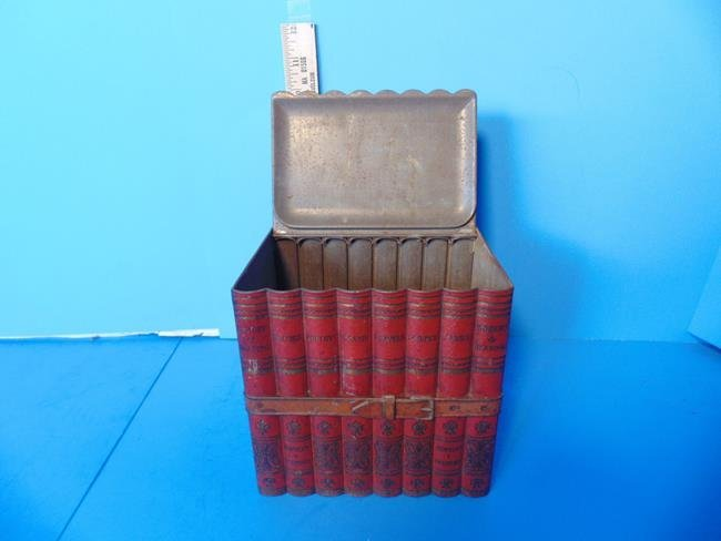 Book Stack Biscuit Tin - 2
