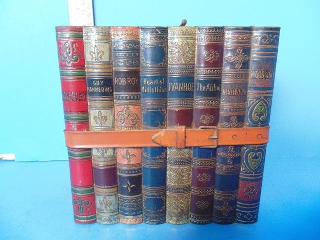 Huntley & Palmer Biscuit Tin Stack of Books
