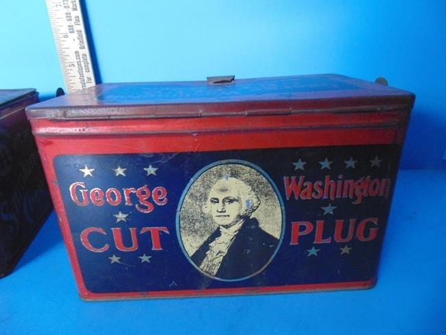 Just Suits & George Washington Tobacco Tins - 2