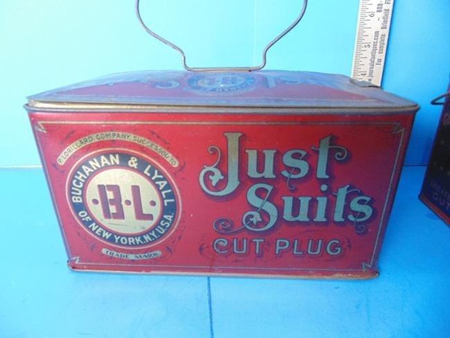Just Suits & George Washington Tobacco Tins - 3