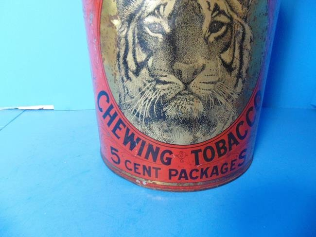 Tiger Chewing Tobacco Store Display Tin - 2