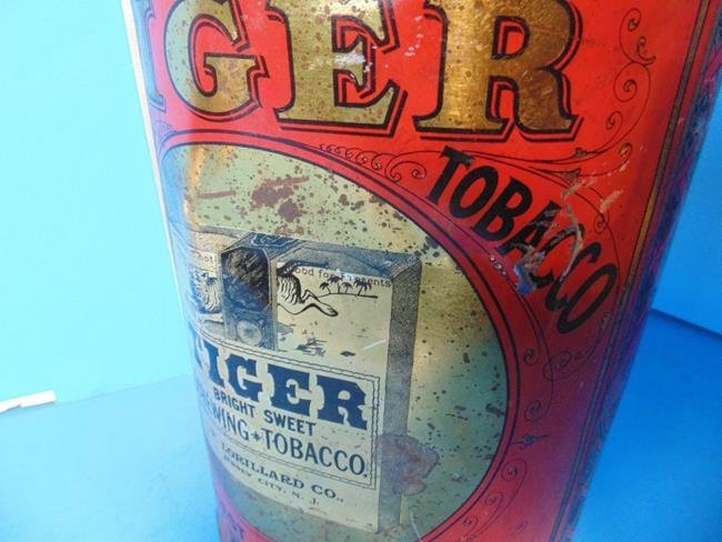 Tiger Chewing Tobacco Store Display Tin - 3