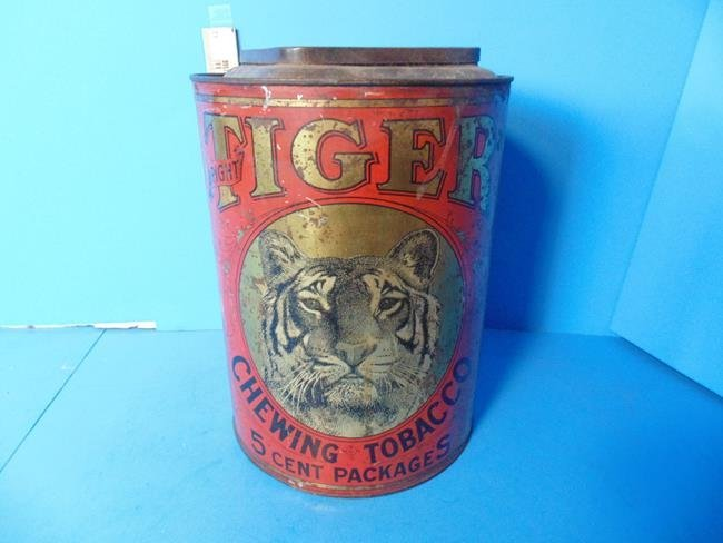 Tiger Chewing Tobacco Store Display Tin - 4