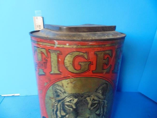 Tiger Chewing Tobacco Store Display Tin - 5
