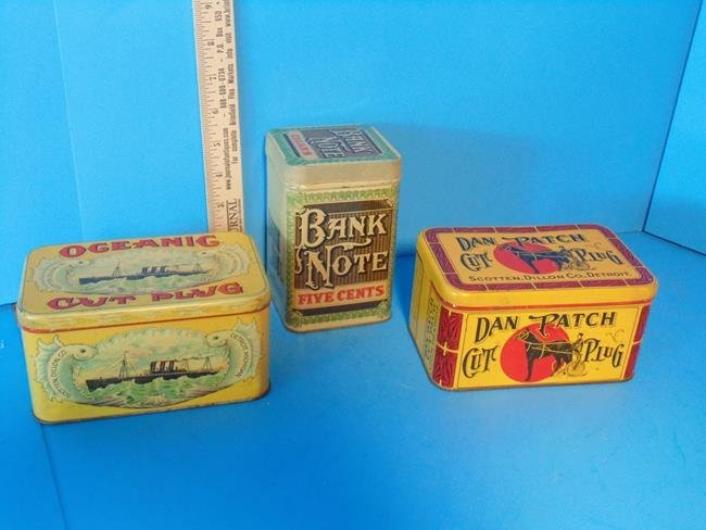 Oceanic, Dan Patch & Bank Note Tobacco Tins