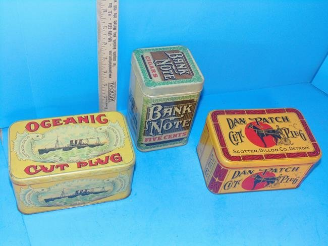 Oceanic, Dan Patch & Bank Note Tobacco Tins - 2