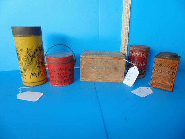 Salt Box & Kitchen Tins