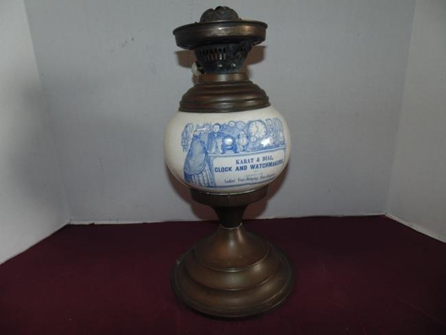 Karat & Dial Clock & Watchmakers Oil Lamp