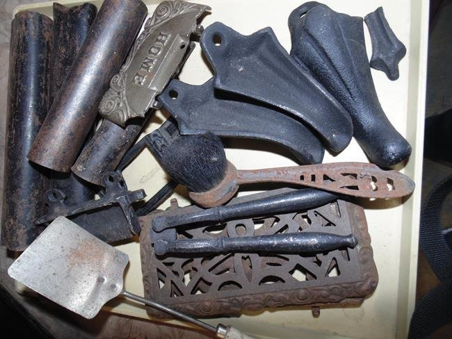 Assorted Cast Iron Stove Parts