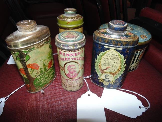 Talcum Powder Tins