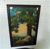 """Maxfield Parrish Print """"HillTop"""""""