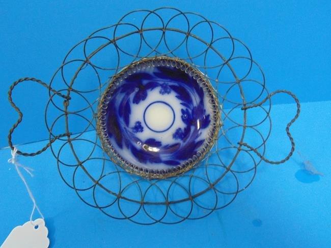 Flow Blue Wire Basket