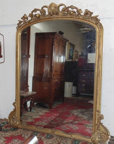 19thc Ornate Gilt Pier Mirror