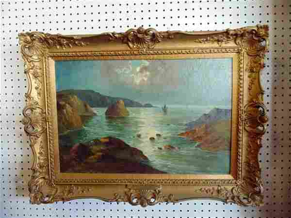Sea Scape Painting by W. Richards