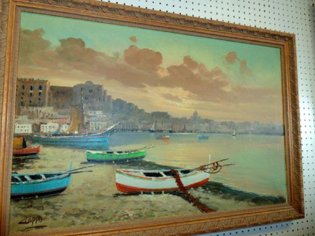 Seaport Painting signed Ciappa
