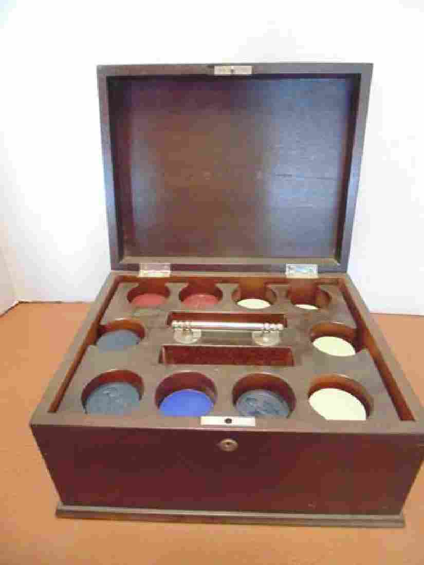 Clay Poker Chips and Box