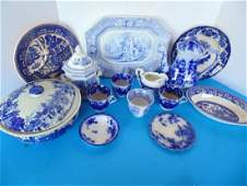 Flow Blue  Transfer Ware  Collection