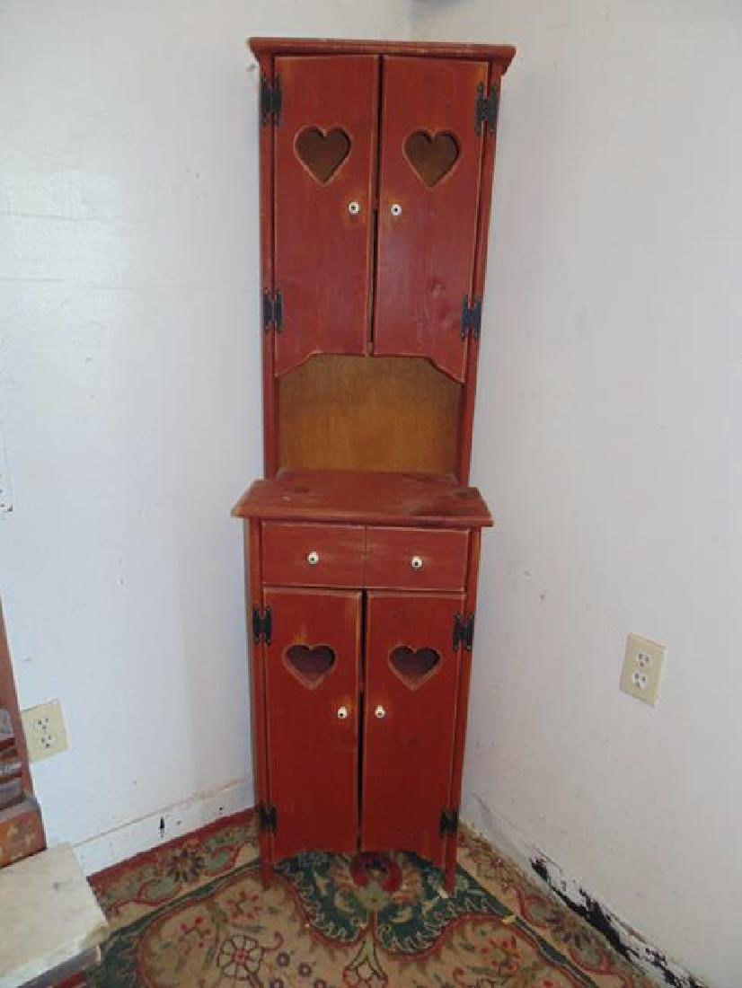 Cupboard with Heart Shape Cut Outs