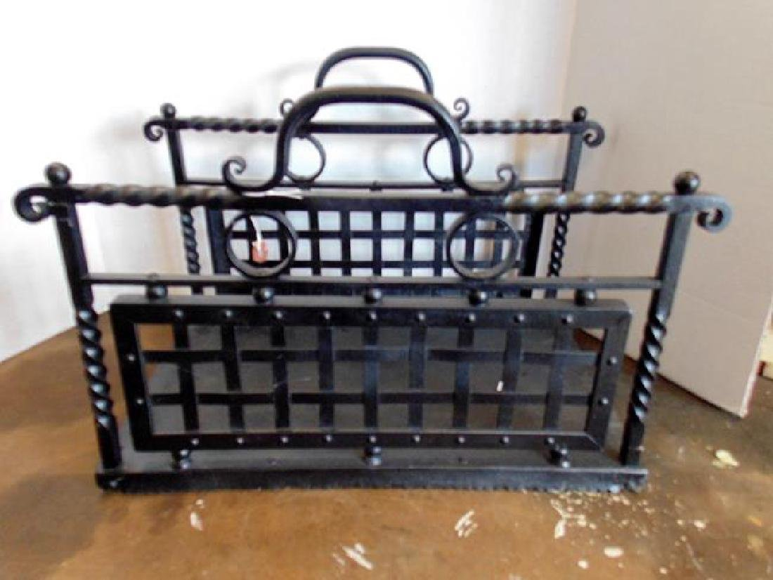 Wrought Iron Wood Carrier