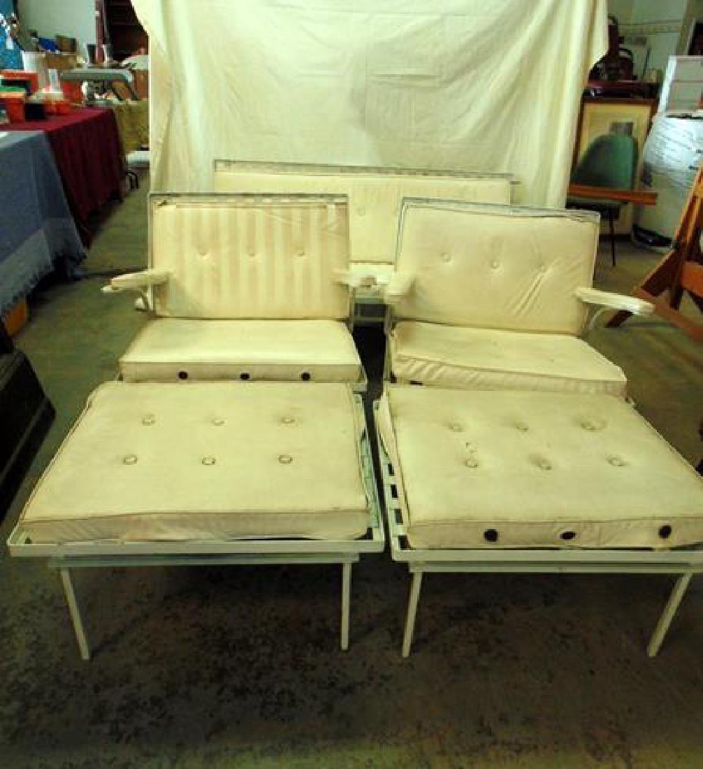 Mid Century Wrought Iron Patio Set