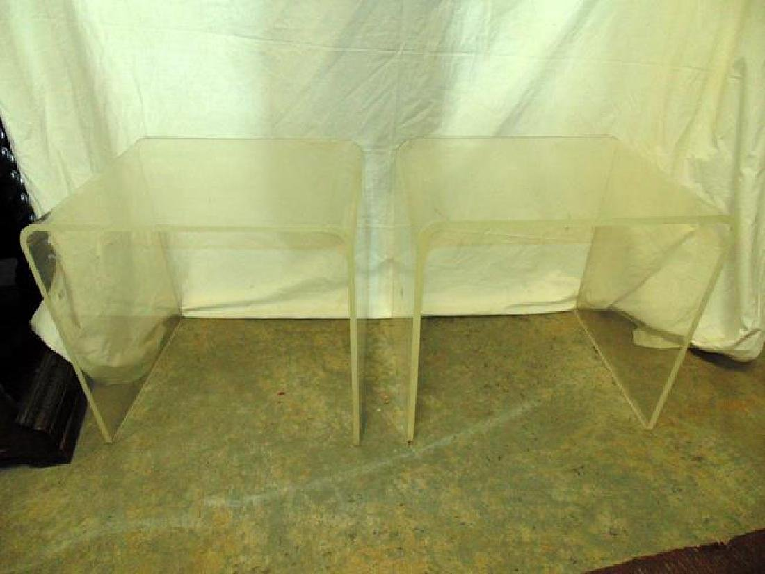 Pair of Lucite End Tables
