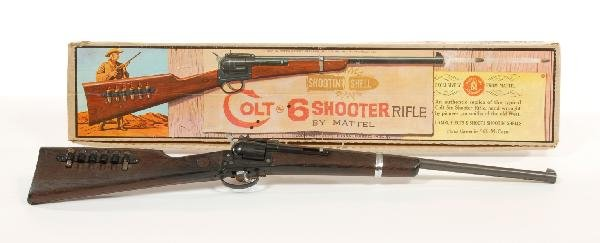 17: Colt 6 shooter rifle with original box by Mattel