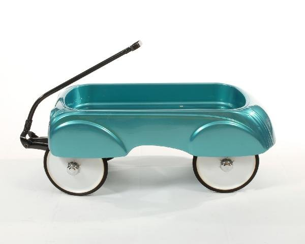 23: Turquoise Steelcraft wagon circa 1960  restored by