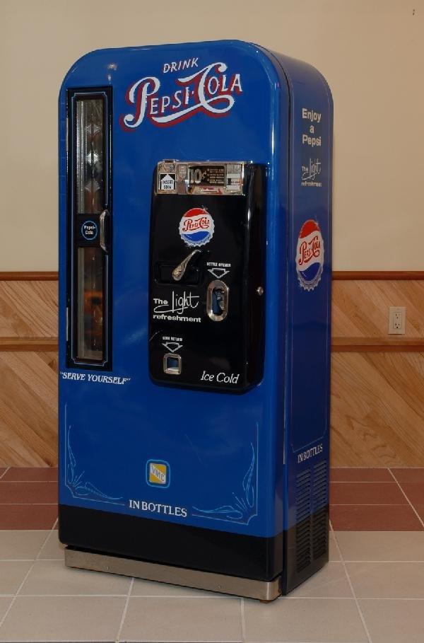 37: Pepsi Cola VMC dispensing machine, blue, restored,