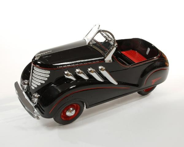 38: Black 1937 Steelcraft Auburn Supercharger pedal car - 2