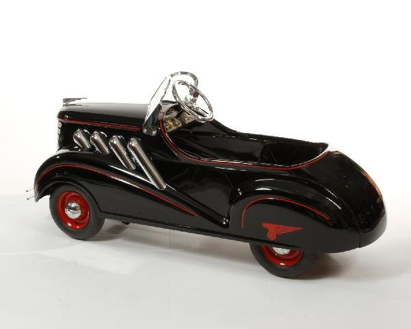 38: Black 1937 Steelcraft Auburn Supercharger pedal car - 3