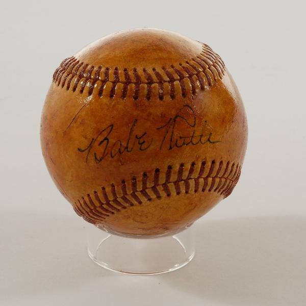 342: Babe Ruth signed baseball