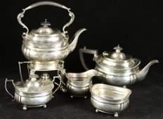 English silver (5) piece tea set hallmarked &