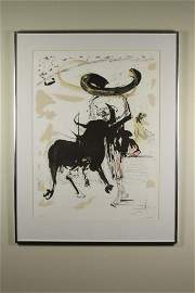 (4) Salvador Dali colored lithographs, Bull Fighter