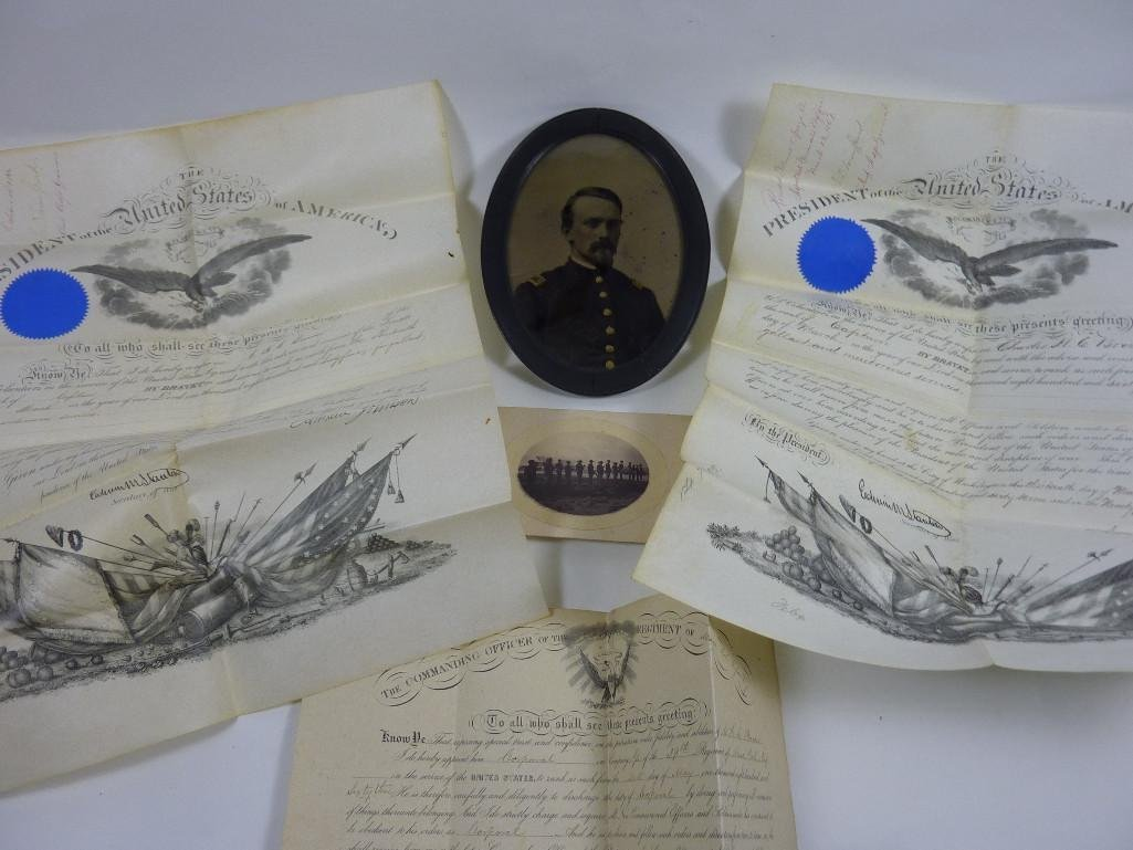 Important Civil War lot pertaining to Capt. Charles