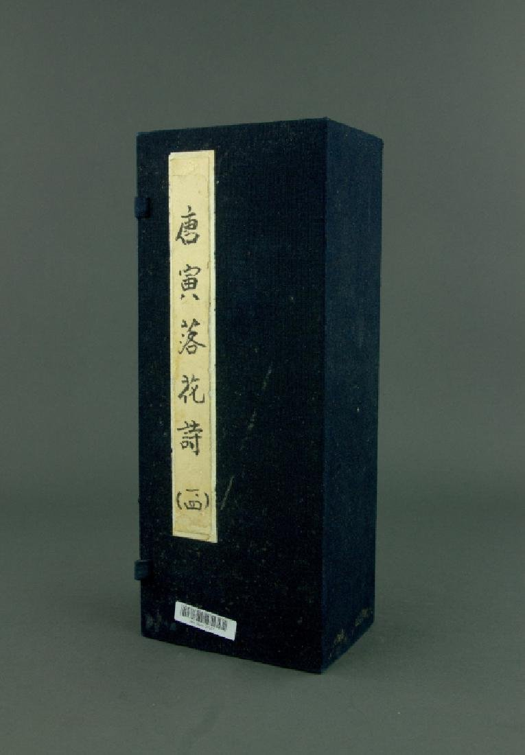 4 Pc Ink Calligraphy Booklets Tang Yin 1470-1524