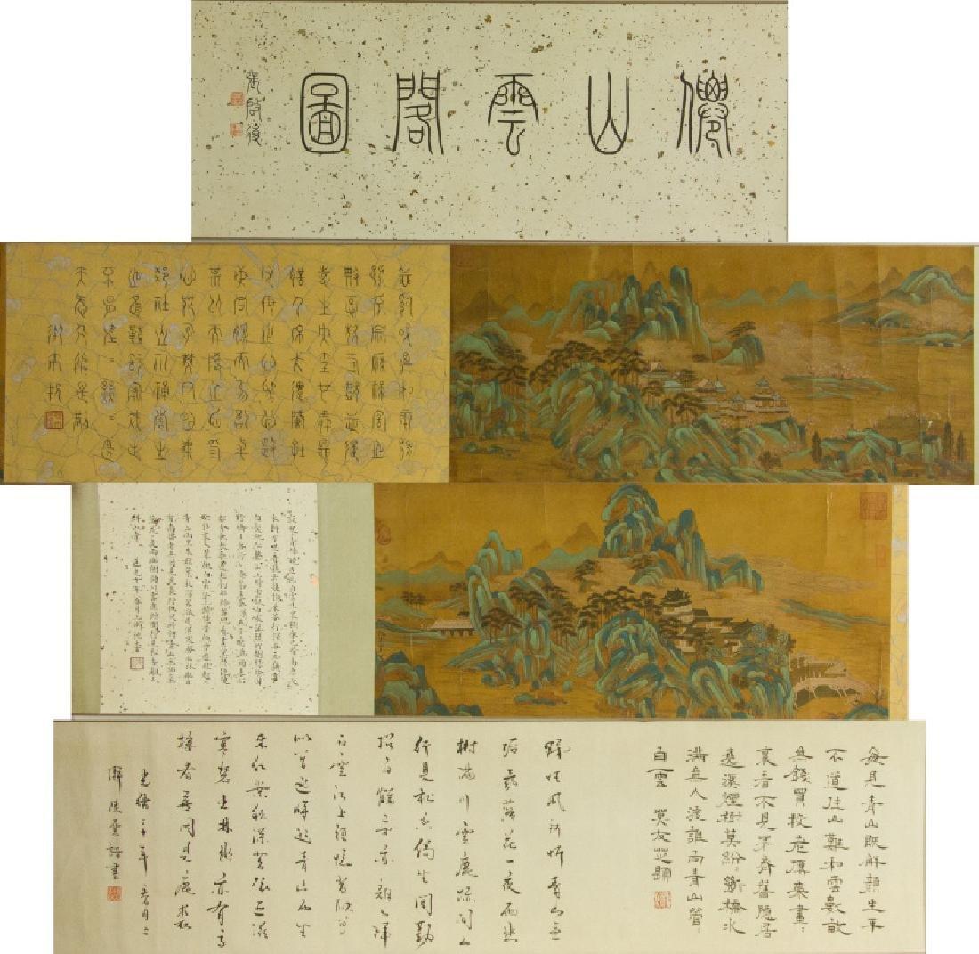 Qiu Ying 1494-1552 Watercolour on Silk Hand Scroll