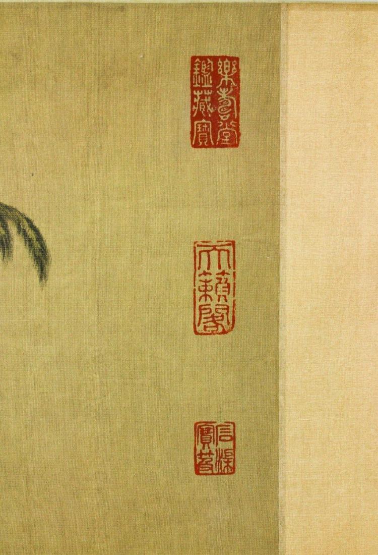 Watercolour on Silk Scroll MaYuanyu 1669-1722 - 3